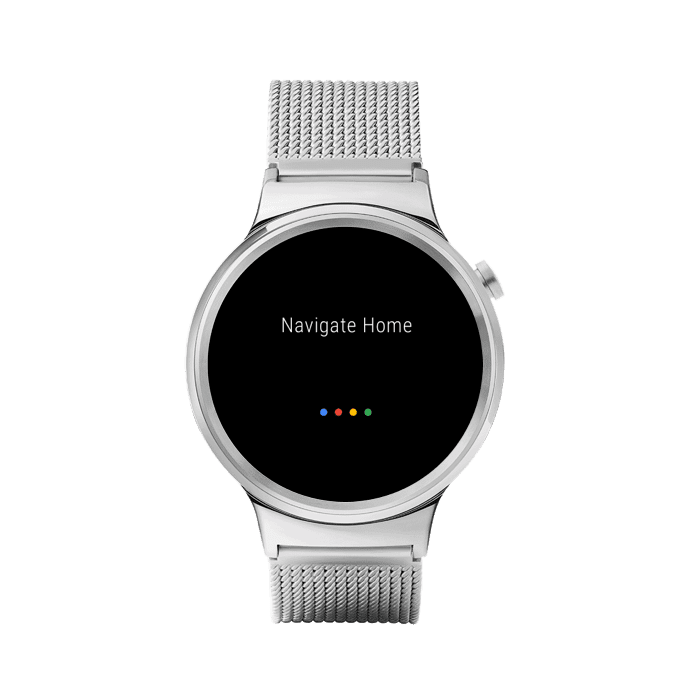 Press and hold the power button on your Wear OS by Google smartwatch or say,