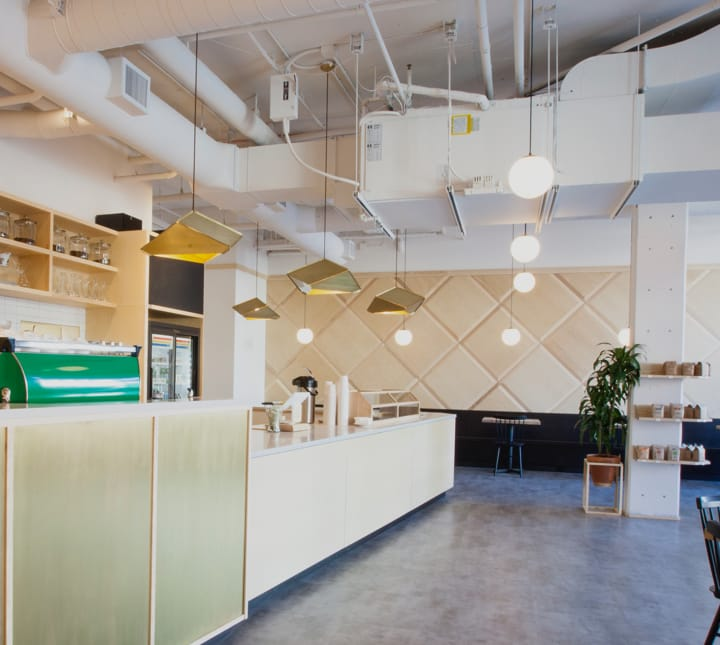 Thumbnail image of a light and airy modern cafe