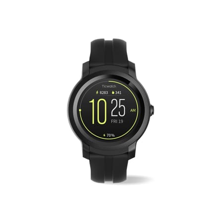 TicWatch E2 smartwatch with 6 built-in sports modes and always on heart-rate monitor.